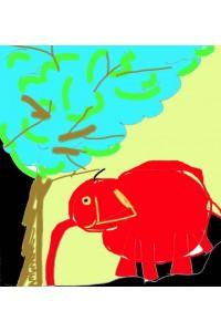 Le champignon le parasol et l'éléphant