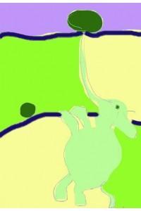 Le ballon aut de la trompe de l'éléphant