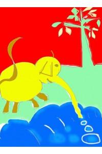 L'éléphant au bord de la rivière