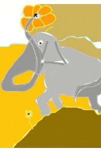 Léléphant et la margueritte