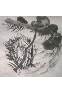 Dessin à Encre de chine + le bambou en tempete