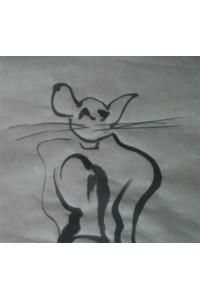 Dessin à Encre de chine + le chat en forme