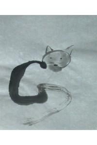 Dessin à Encre de chine +chat alors