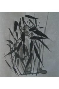 Le chat dans les bambous