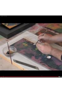Vidéo tableau coquilles d'oeufs abstrait