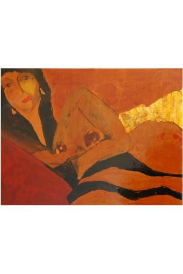 La femme au sofa doré