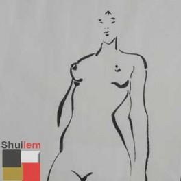 Dessin A L Encre De Chine Femme Fatale Art Creation Tableaux Laques