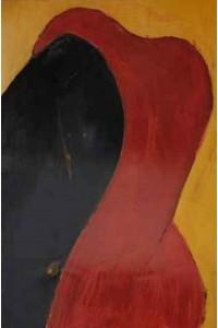 Tableau laqué Femme aux cheveux longs